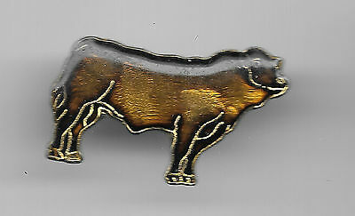 Vintage Blonde D'Aquitaine Cattle small c3 old enamel pin