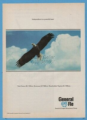1987 Bald Eagle Independence General Reinsurance Corporation Gen Re print ad