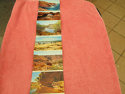 postcards of kalbarri wa  6 still attached strip murchison river gorge the loop