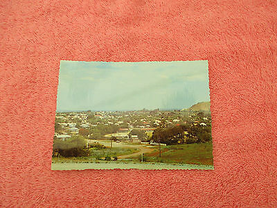 postcard of charters towers overlooking the  town from buckland hill