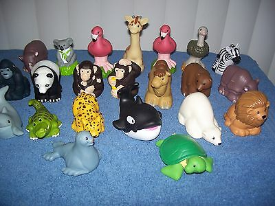 Lot of 22 Fisher Price Little People Zoo Talkers Animal Figures