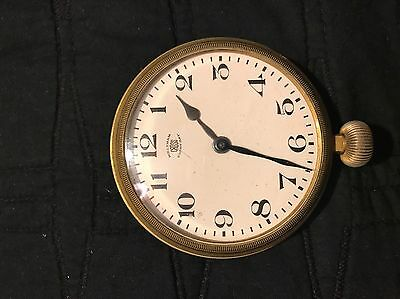 Vintage Antique Waltham Cross Eight Day Automobile Clock Watch