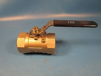 "32H986 2"" 316 Stainless FNPT x FNPT Fire Safe Ball Valve Locking Lever(Grainger)"