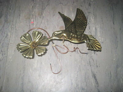 HOME INTERIORS Gold METAL Hummingbird & Flower WALL Hanging PLAQUE Replacement