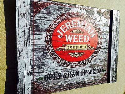 """Jeremiah Weed Southern Style Bourbon Whiskey Wood Distressed Sign Bar """"NEW"""""""