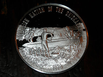 NATIVE AMERICAN - NATION of the CHICKASAW -.999 Silver FRANKLIN MINT .82 oz.