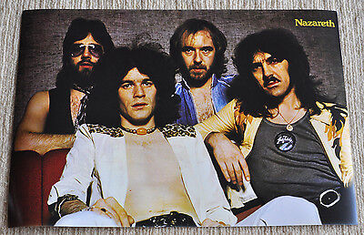 Nazareth Poster Rampant, Hair Of The Dog Nazareth '74 Classic Line Up RaRe