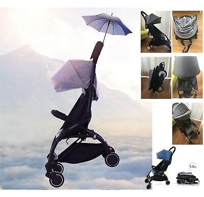 2017 Black Frame Compact Lightweight Baby Stroller Pram Fold Travel Carry-on