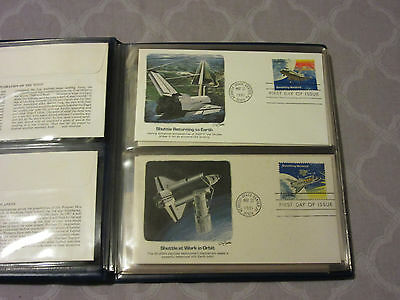 US Space Shuttle Commemorative Collection 11 Space Covers FDC's Fleetwood folder