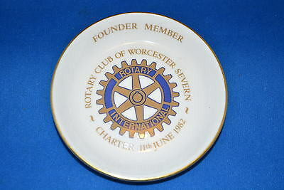 Worcester Severn Rotary Club International Founder Member Charter 1982 Dish