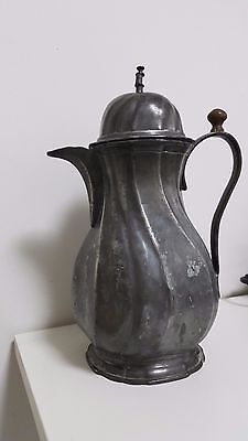 Antique german silver coffee pot with stamp