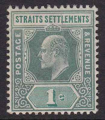 STRAITS SETTLEMENTS - 1902 - King Edward VII. 1c. Grey-green. Mint LH