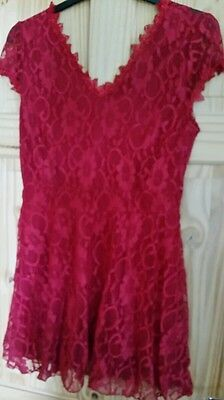 Red lace dress size 2xl (12)