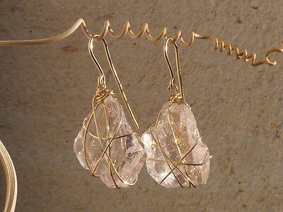Boucles d'oreilles en or 18 ct, morganites