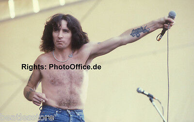 Bon Scott AC DC on Stage 1979, 12 x 18 Photo Poster from original slide negative