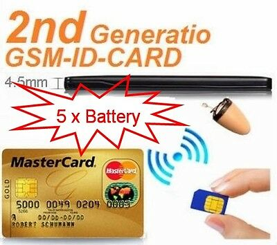 2nd Gen 4.5W Quad Band GSM Box Sim card ID CARD for Spy Mirco Earpiece