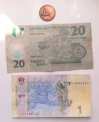 World notes and coin