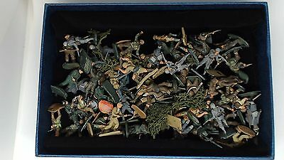773. Mixed Job Lot Of Unsorted Original Airfix Army Soldiers German British Etc