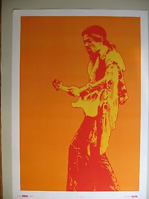Jimi Hendrix, By Nona Hatay, Extremely Rare Authentic 1987 Art Print Poster