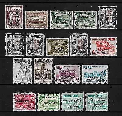 PERU - mixed collection, 1946-1951 overprints, mint & used