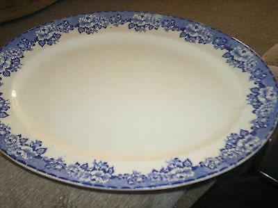 Large Peony Pottery Meat Plate