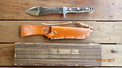 Rare Early 1980's Vintage Carl Schlieper Stag Trophy Line #355 Trapper Knife