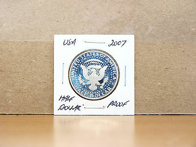 2007 PROOF United States Kennedy Half Dollar Coin (80% silver)