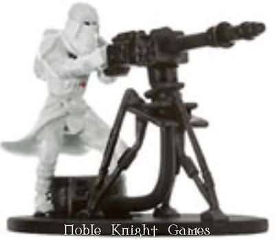 WOTC Star Wars Minis Champions o/t Force Snowtrooper with E-Web Blaster NM