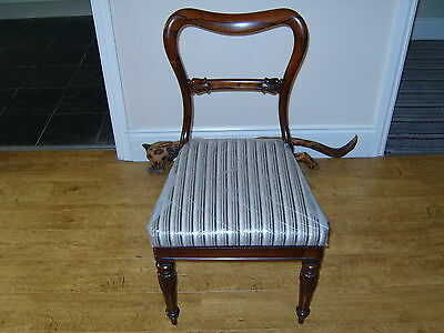 Set of 4 Antique William IV Rosewood Balloon Back Chairs - circa 1840 - VGC