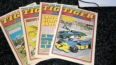 TIGER & SCORCHER COMICS x 4 -1977  -1980