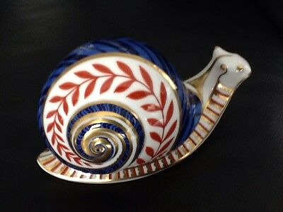 Royal Crown Derby Snail  Paperweight 1st Quality Ceramic Stopper