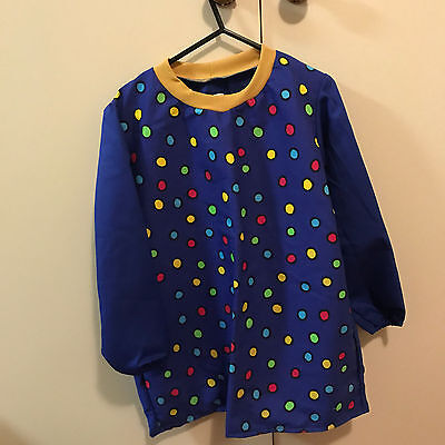 4-8 Year Old Blue Dots School Art Smock - Home Made