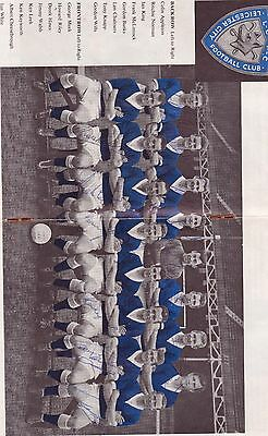 Leicester City 1961 Fac Final Booklet Autographed On Team Picture
