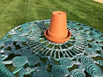 Large Garden Wind Weather Proof Outdoor Pub Continental Style Terracotta Ashtray