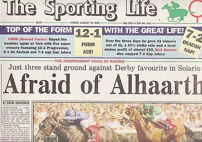 The Sporting Life Newspaper - Friday August 18, 1995
