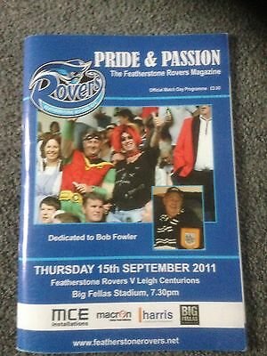Featherstone Vs Leigh Programme 2011