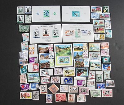 Liberia Approx 60 Stamps & 5 Souveir Sheets, MNH,  F535