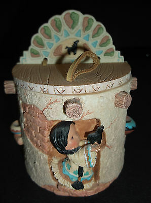 Enesco Friends Of The Feather Hahn Hanging Trinket Box Pottery Girl Home 1996