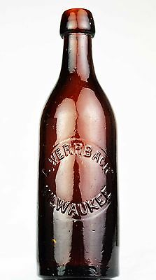 EARLY!  LOUIS WERRBACH BEER BOTTLE FROM MILWAUKEE WISCONSIN, C.V.G.Co. 1881
