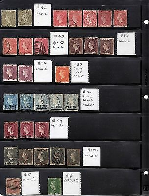 St Vincent: 3 Pages-Large Lot Of 19Th Century Stamps Victoria - Cv$920+