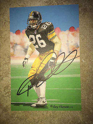 Rod Woodson Signed/Auto Official Goal Line Art Card GLAC Steelers, Raiders HOF