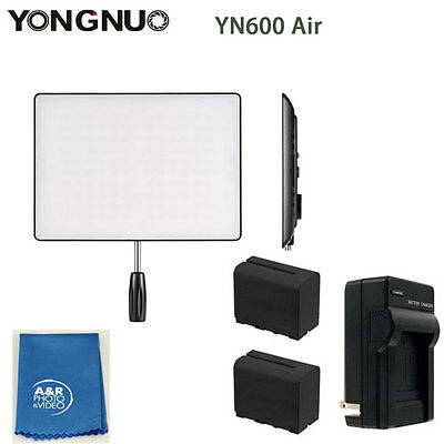 Yongnuo YN600 Air 5500k PRO LED Light Kit With Two High Power Batteries Charger