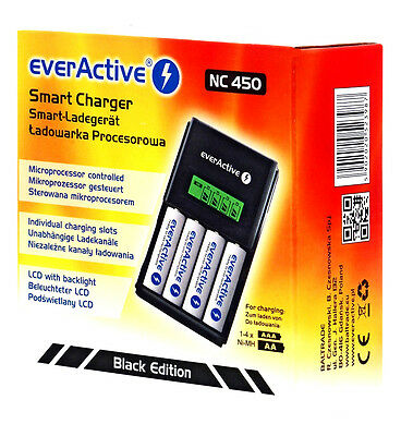 Inteligentes Ladegerät Technoline Charger EverActive NC 450 Fast Charging Ni-MH