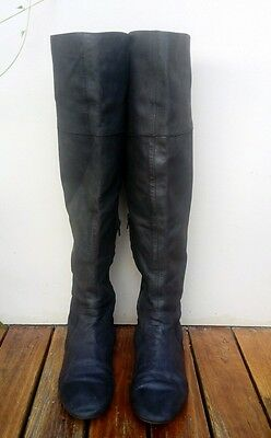 Over the knee leather boots tony bianco
