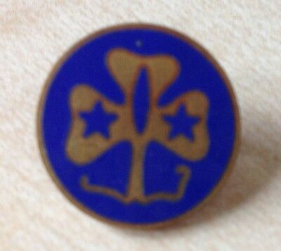 Girl Guide Scouts Vintage Metal Badge Clip Collector