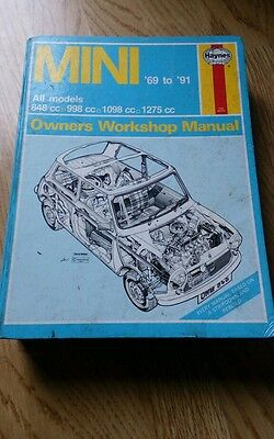 Classic mini haynes workshop manual  69 to 91 free postage