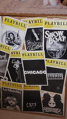 Playbill Magazine Lot 1987 to 2000 Framed Vintage front covers