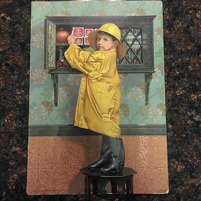 Antique ad card, National Biscuit Company promoting package sealing early 1900's