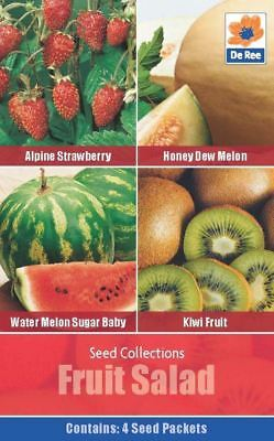 SEED Collection Pack - FRUIT SALAD Seeds - STRAWBERRY, MELON, KIWI