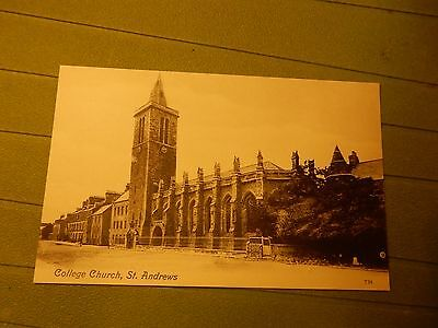 Early postcard - College Church St Andrews - Fife  Scotland